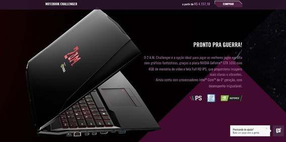 Notebook Gamer 2am I5, 32gb Memoria Hd De 1tb+480gb Nvme Ssd