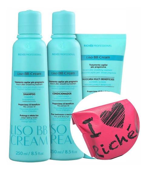 Kit Richée Bb Cream Hair Care (3 Produtos) + Necessaire