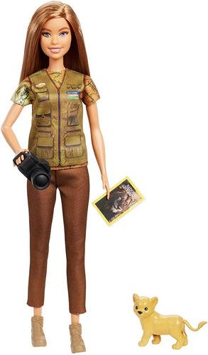 Barbie National Geographic Fotojornalista Com Leãozinho 2019