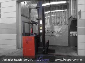 Apilador Reach Toyota Torre 7 Mts Con Bateria Y Cargador