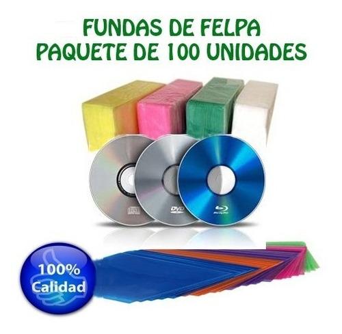 Fundas Plásticas Para Cd Dvd Blu Ray Paquete De 100 Unidades