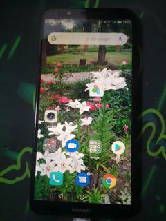 Huawei Y7 2018 Azul Liberado Con Caja Y Accesorios Urgeventa
