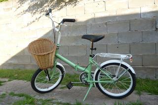 Bicicleta Plegable Retro Restaurada Rodado 16