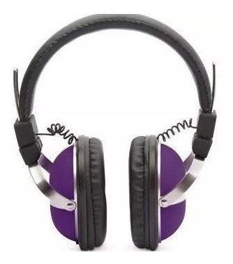 Fone De Ouvido P2 Gamer Original Violeta Colorido