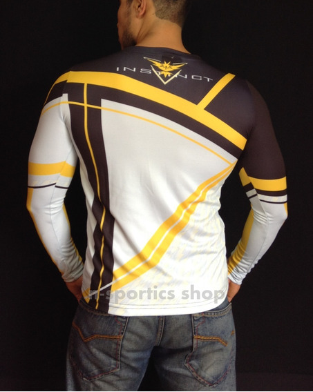 Playera Lycra Pokemon Go Team Instinct Spark Gamer Nintendo