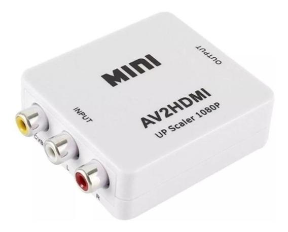 Conversor Rca A Hdmi Adaptador De Video Rca Av2 A Hdmi 720p 1080p
