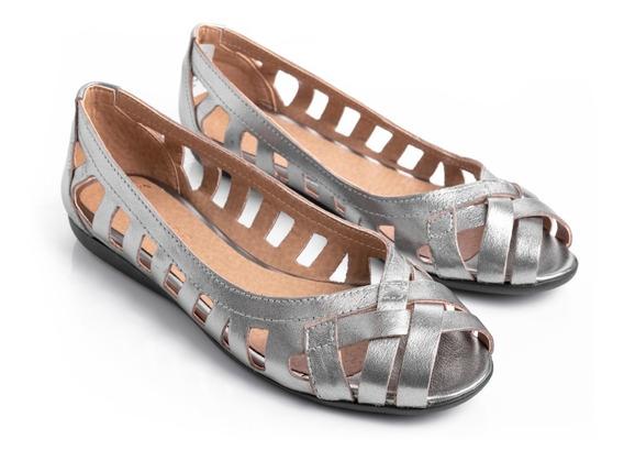 Zapatos Mujer Chatitas Balerinas Mocasines Mujer Cuero Vacuno Picadas