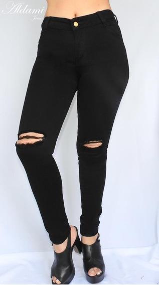 Jeans Mujer Negro Rotos Mercadolibre Com Co