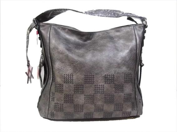 Cartera Amayra Peltre Tote Bag Diseño De Tachas Redondas