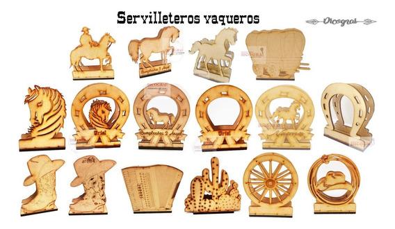 Servilleteros Vaqueros -mdf 3mm-