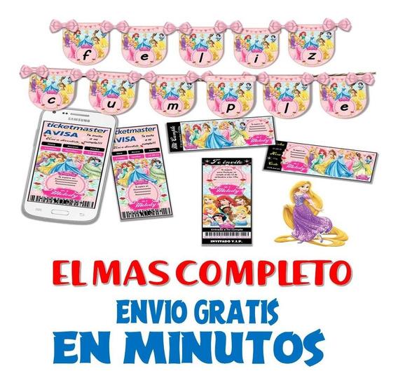 Kit Imprimible Candy Bar Princesas Disney El Mas Completo