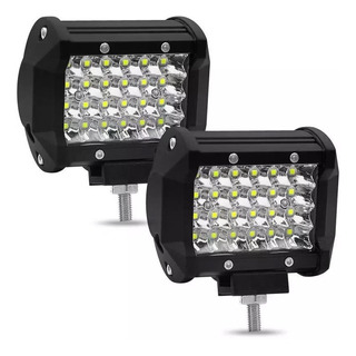 2 Faros Led Alta Baja Y Estrobo 24 Led Super Potente 12vcc