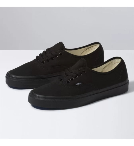 Tenis Vans Authentic Preto Total Original Nf
