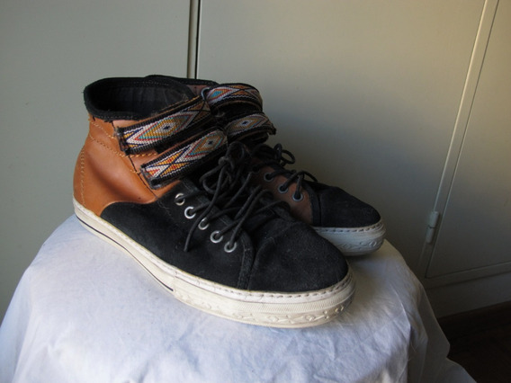 Zapatillas Vans Botitas Marron Celeste Talle 8.5 M/10 W