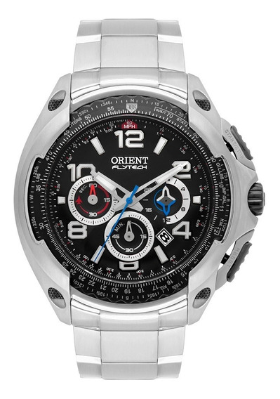 Relógio Orient Flytech Masculino Cronógrafo Mbttc015 Preto