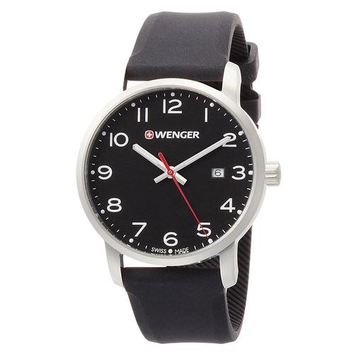 Reloj Wenger Para Hombre (01.1641.101) Avenue Dial Negro
