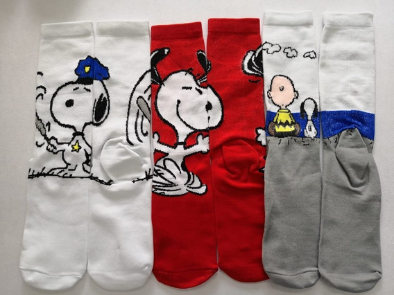 Calceta Larga Snoopy, Charlie Brown 3 Pares