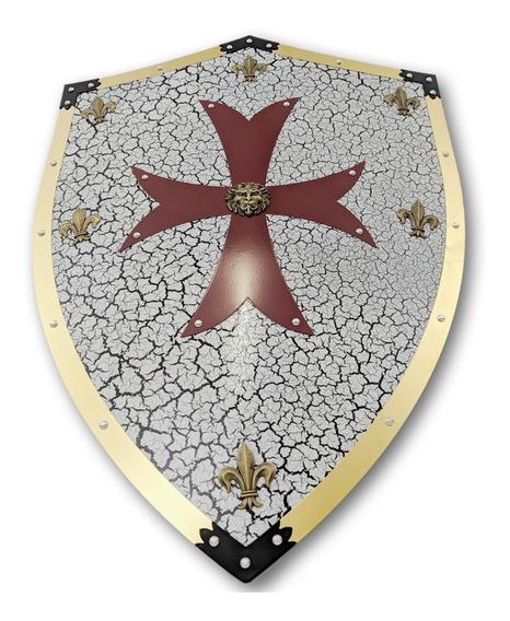 Escudo Cruzadas Cavaleiro Medieval /templario Aço