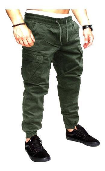 Pantalon Jogger Cargo Chupin Gabardina Refor Slim Work Hard