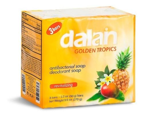 Dalan Jabón Barra Golden Tropics  3-pack 90gr 24 Paqxbulto