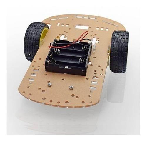 Imagen 1 de 7 de Chasis Robot Seguidor De Línea Arduino Robotica Kit