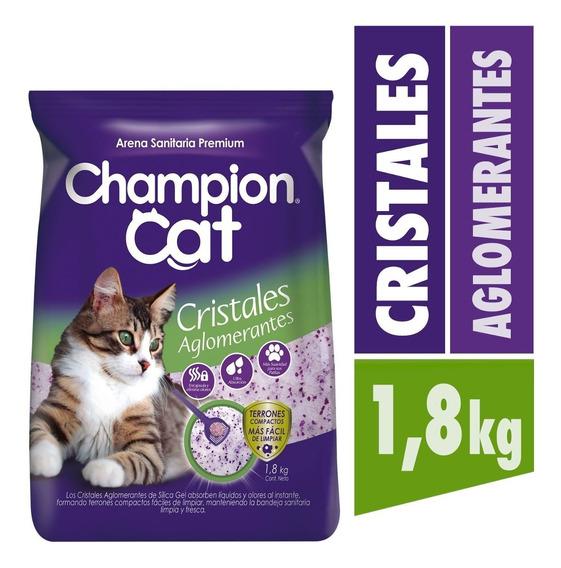 Champion Cat Cristales Sanitarios Aglom 8 X 1,8 Kg