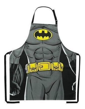 Avental Algodão Wb Dc Or Batman Body Preto 70 Cm