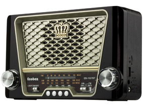Radio Vintage Am Fm Sw Bluetooth Bateria Pendrive Usb Retro