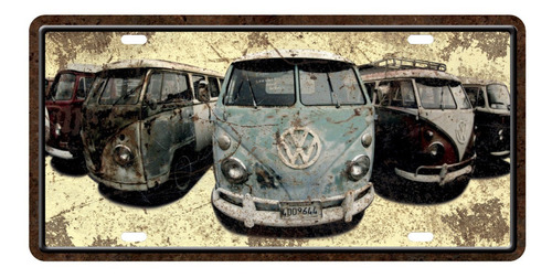 Imagen 1 de 2 de Placa Cuadro Decorativo/chapa De Auto - Varias Combis 30x15