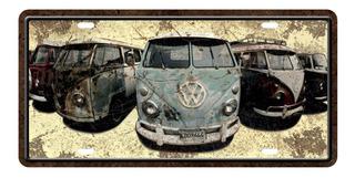 Placa Cuadro Decorativo/chapa De Auto - Varias Combis 30x15