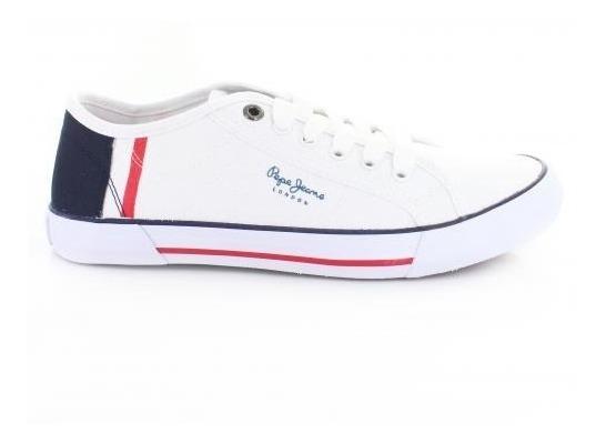 Tenis Para Hombre Pepe Jeans 8164-050445 Color Blanco