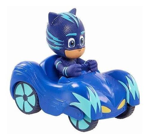 Pj Masks Mini Veículo Azul Menino Gato Dtc