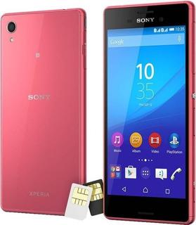 Celular Sony Xperia M4 Aqua 4g 02 Chips Vitrine Novo Coral