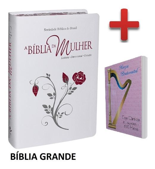Bíblia Da Mulher Tamanho Grande + Harpa Cristã