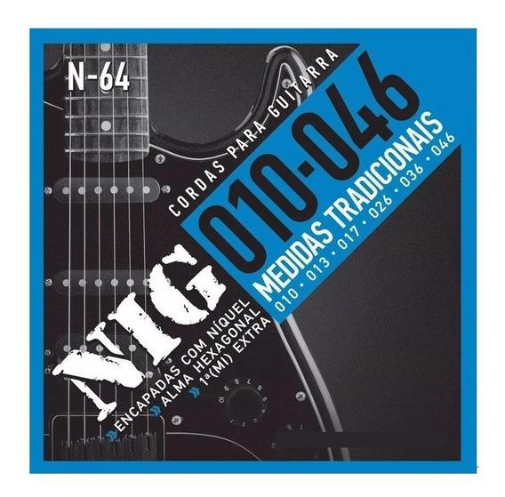Encordoamento Nig Cordas Guitarra 010 046 N64 N-64