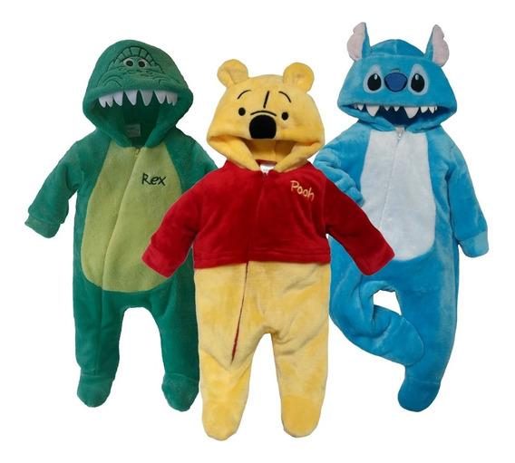 Kit 3 Mamelucos Disney Rex, Winnie Pooh, Stitc A Precio De 2