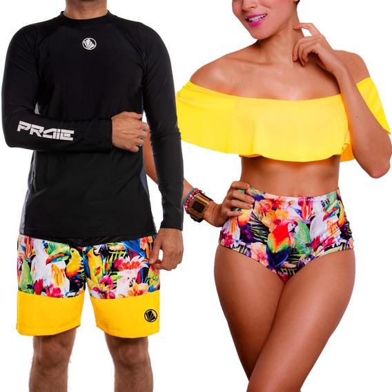 Vestidos De Baño Bikinis Conjunto Para Parejas 1511 + 2129