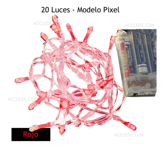 Cadena 20 Luces Led Para Centros De Mesa O Festividades Pila