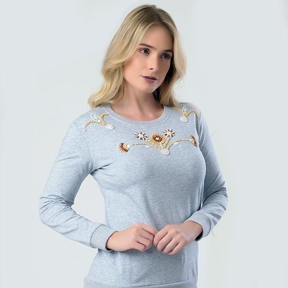 Camisa Moletom Moda Feminina Miss Yes Ae-1939