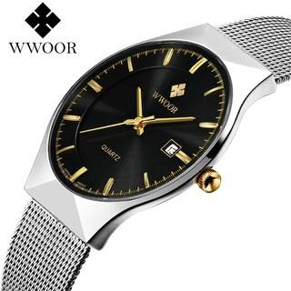 Relógio Fino Slim De Luxo Masculino Wwoor