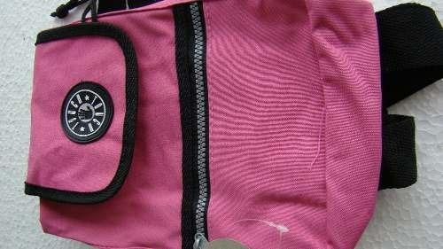Mala Bolsa Mochila Feminina Pequena Ziper Touch Rosa 6585