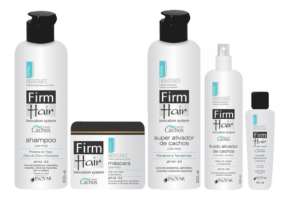 Kit Linha Cachos Hidratante Low Poo Firm Hair 5 Produtos