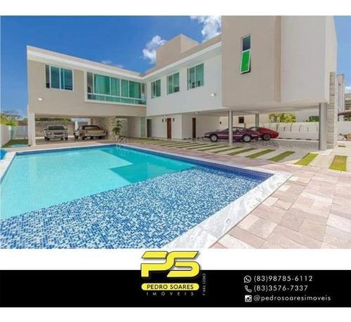Casa Com 4 Dormitórios À Venda, 381 M² Por R$ 1.300.000 - Intermares - Cabedelo/pb - Ca0896
