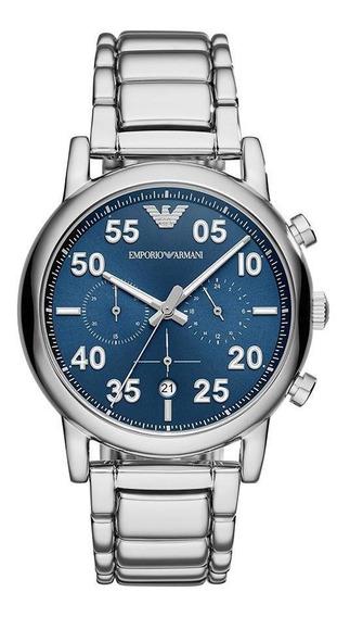 Relógio Empório Armani Masculino Luigi Prata - Ar11132/1kn