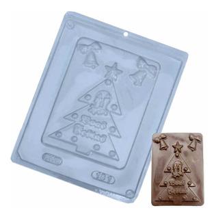 Forma Para Chocolate Placa Árvore Natal Ref. 181 - 5 Formas
