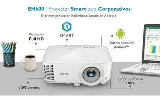 Proyector Benq Smart Eh600 Inalámbrico Full Hd, 3500 Lm