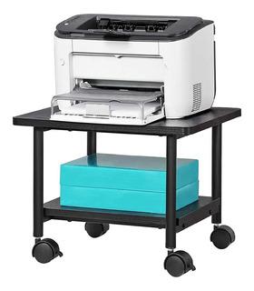 Mueble Carrito Organizador Oficina Impresora Multiusos 2 Niv