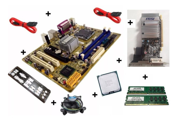 Kit Placa Mãe Pos-pig41ba+intel Dual Core+placa Video+3gbram