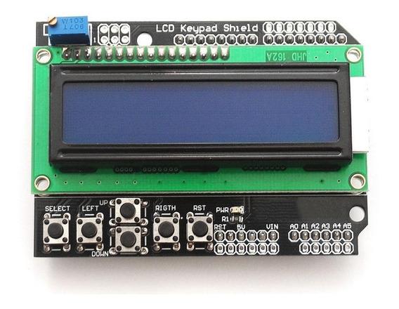 Módulo Tela Lcd Shield 16x2 P/ Arduino C/ Botões De Controle