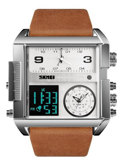 Skmei 1391 Reloj Hombre Tipo Militar 3 Horas Cuarzo Digital